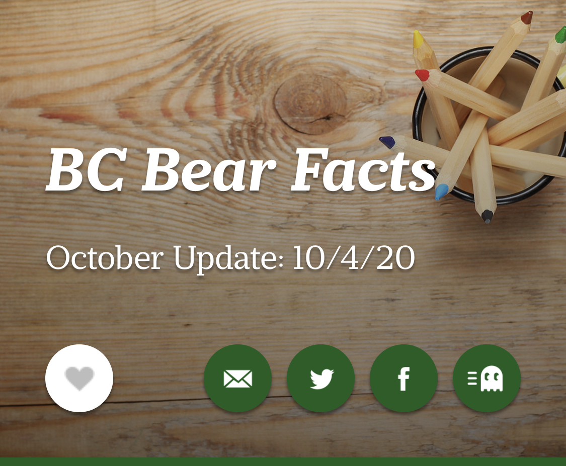 BC Bear Facts - October Newsletter 10-4-20
