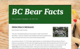 BC Bear Facts - December Newsletter